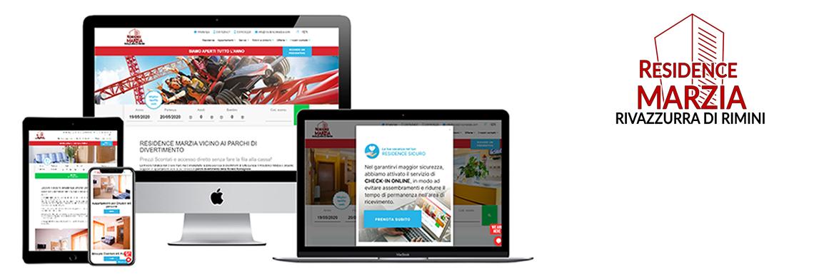 Residence Marzia. Il sito web come strumento di innovazione.